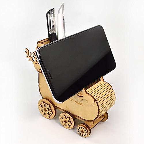 DIY卓上収納ケース 3D立体パズル 木製 手作りジグソーパズル ペンホルダー かわいい おしゃれ おもしろい 卓上収納 オフィス収納 多機能 DIY 靴下 オフロード車 ペン立て スマホホルダー 携帯スタンド デスク デコレーション 鉛筆 ペン 小物収納
