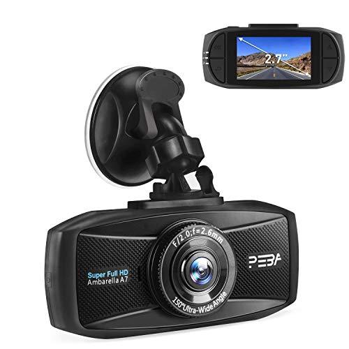 Dashcam,Dashcam Auto 1296P,2K Extreme HD Pro Dashcam,2,7-Zoll-Bildschirm im Auto,mit Kollisionserkennung,Loop-Aufnahme,Parküberwachung,G-Sensor,WDR Bewegungserkennung,PEBA Hidden Camcorder