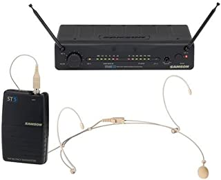 Samson Stage 55 Wireless Lavalier Microphone System, Includes ST5 Beltpack Transmitter, SR55 Wireless Receiver, and LM10BM Lavalier Microphone (Channel 05: 190.6MHz)