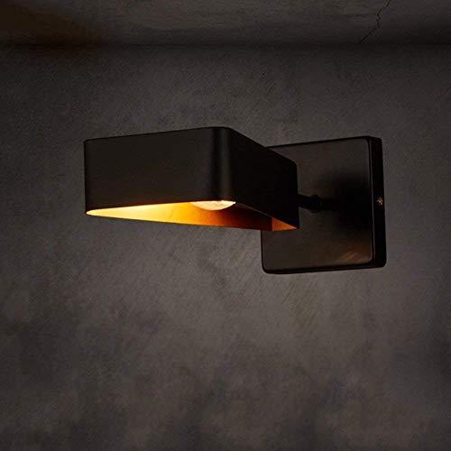 1-licht retro nostalgie ijzer metaal wandlamp Loft restaurant bar café vintage wandlamp zwart E14 sokkel creatieve driehoek wandlamp lantaarn binnenverlichting