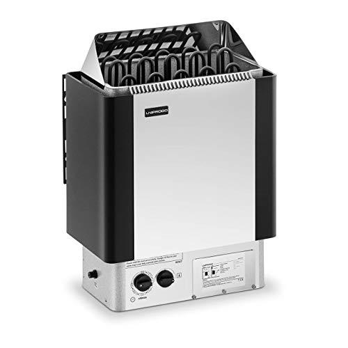 Uniprodo UNI_SAUNA_S9.0KW Saunaofen 9 kW 30 bis 110 °C inkl. Steuerung Überhitzungsschutz Zeitschaltuhr