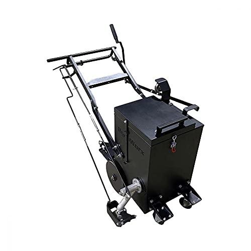 Asphalt Kingdom - RY10 Pro Melter Applicator for Filling Asphalt Cracks - 4-Wheel Designed Ry10 Pro is Safe, Reliable, and Efficient Crack Seal Machine - 10 Gallon
