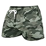 GYMAPE Hombres Gym Sports Bodybuilding Workout Shorts 5 Pulgadas con Raw Hem Design Serie de Camuflaje Color Camo Green Size XL