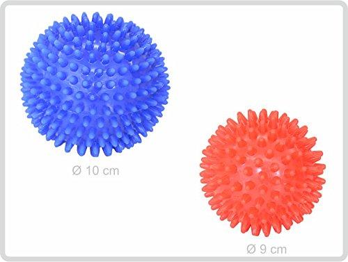 Igelball Igel-Ball Noppenball 2er (blau - rot) - Massageball