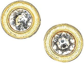 Kenneth Jay Lane Round Crystal Clip Earring