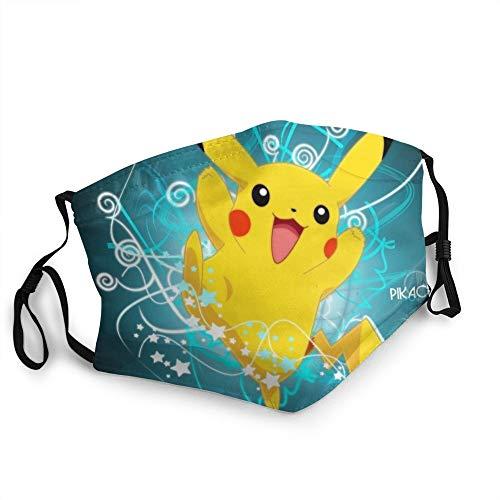 DonBerr Pokemon mascarilla niños,mascarillas tela Impresión 3D...