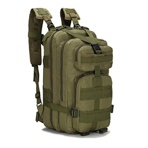 HMILYDYK Sport Outdoor Oxford Militare Tattico MOLLE Zaino da Campeggio Trekking 25L (Esercito Verde)