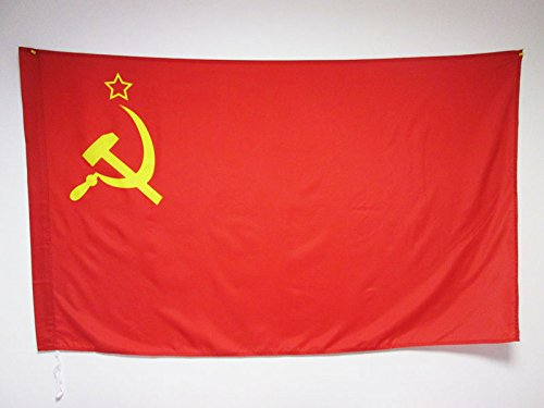 AZ FLAG Flagge SOWJETUNION UDSSR 150x90cm - Kommunismus Fahne 90 x 150 cm Scheide für Mast - flaggen Top Qualität