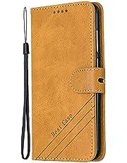 Coque pour Huawei P8 Lite 2017 Prime PU Cuir Flip Folio Housse Étui Cover Case Wallet Portefeuille Support Dragonne Fermeture Magnétique pour Huawei P8Lite 2017 - JEHX010370 Jaune