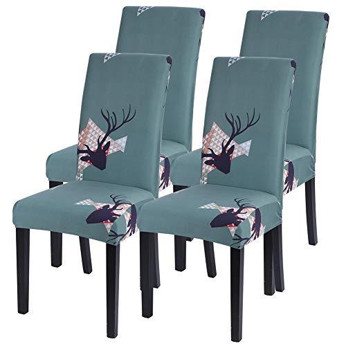 Heflashor Universal Stretch Stuhlhussen 4er 6er Set Elastische Stuhlbezug Moderne Husse Stuhlbezüge Sesselüberzug Protector Cover für Esszimmer Hochzeit Hotel Party Bankett