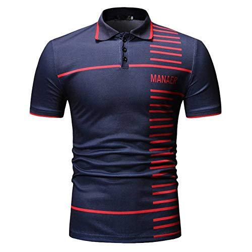XJWDTX Sommer Herren Freizeitmode Polo-Shirt