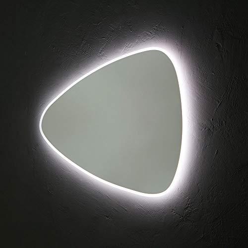 SPECCHIO REVERSIBILE A GOCCIA 100X75 CM RETRO-ILLUMINATO A LED REVERSIBILE