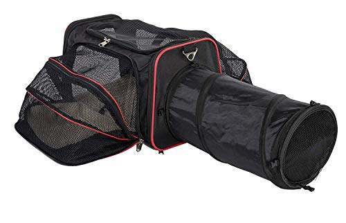 Petpeppy.com Expandable Pet Carrier with a Tunnel - Airline Approved - Two Side Expansion, Designed for Cats, Dogs, Kittens, Puppies - Extra Spacious Soft Sided Carrier! - Patent Pending …