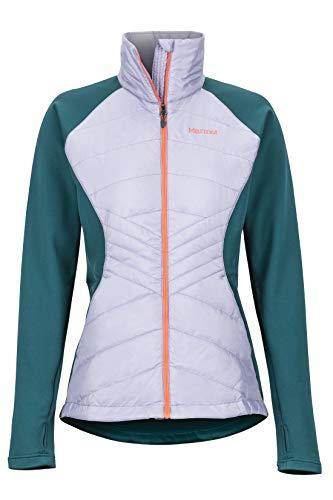 Marmot Wm's Variant Hybrid Jacket Polaire, Veste d'extérieur à Fermeture éclair sur Toute la Longueur, Respirante, résistante au Vent Femme, Lavender Aura/Deep Teal, FR : S (Taille Fabricant : S)