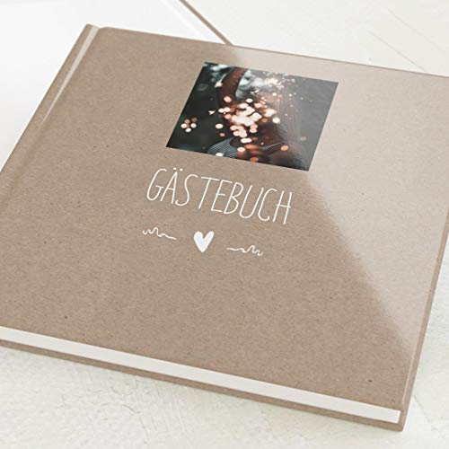 sendmoments Foto Gästebuch, personalisiert mit Ihrem Wunschbild, Passend, hochwertige...