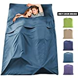 Sleeping Bag Liner Travel Camping Sheet Lightweight Breathable Cotton Camping Sheet Ultralight Compact Sleep Sheet Carry Bag for Picnic,Hiking