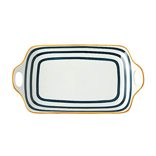 GAONAN Au Gratin Sartenes Bakeware con asas, Pan para hornear de cerámica, Pan de lasaña antiadherente, platos para hornear, plato de cazuela para cocinar, cocina, cena de pastel, banquete y uso diari