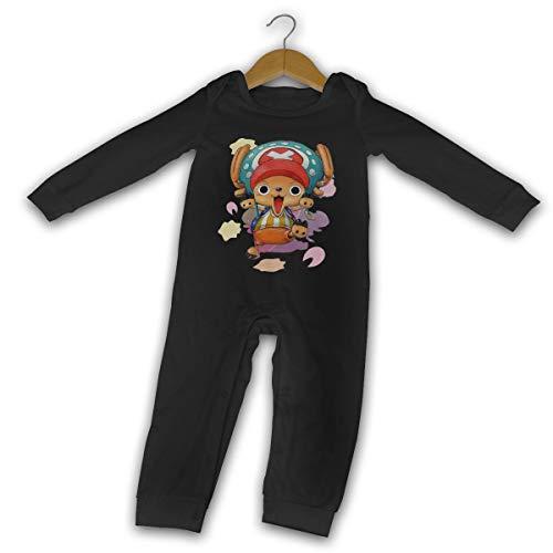 Runxin Baby Boys Girls O-Neck Long-Sleeve Onesie One Piece Tony Tony Chopper Funny Jumpsuits Sleepwear Black 46