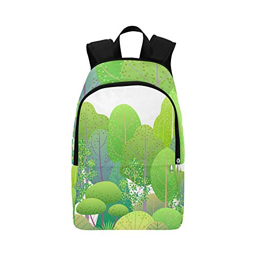Travel Cooler Bag Emerald Green Tree Lovely Durable Water Resistant Classic Womens Hiking Bag Best Packable Daypack Hiking Bag for Toddler Kid Hiking Backpack