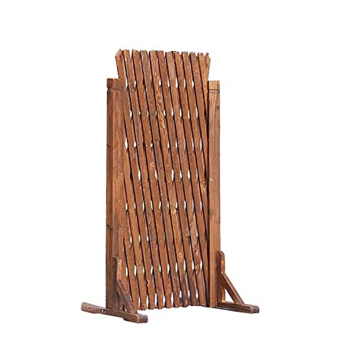 JHZWHJ Wood Garden Fencing,Telescopic Lattice Panels for Climbing Plants Outdoor/Animal Barrier/Privacy Fence Screen (Size : 105cm)
