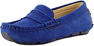 PPXID Girl's Boy's Suede Slip-on Loafers Shoes(Toddler/Little Kid/Big Kid)