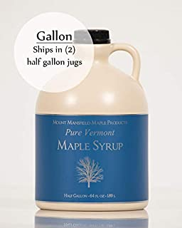 Mansfield Maple Pure Vermont Maple Syrup in Plastic Jug Golden Delicate (Vermont Fancy), Gallon (Ships as 2 Half Gallons)