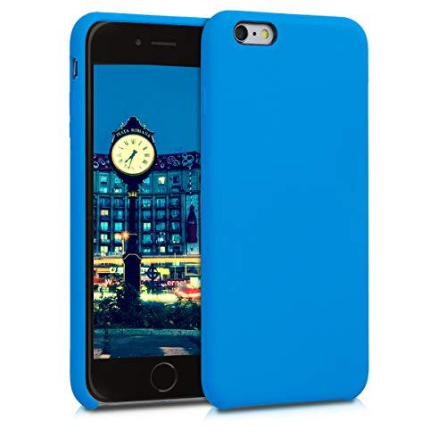 kwmobile Cover compatibile con Apple iPhone 6 Plus / 6S Plus - Custodia in silicone TPU - Back Case protezione cellulare blu cielo