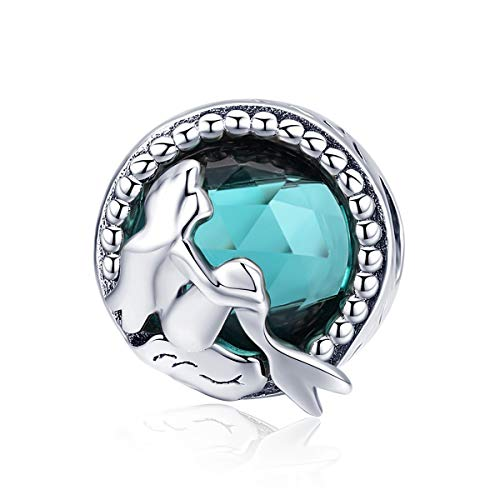 INBEAUT Hot Sale 925 Sterling Silver Mermaid's Missing Round Charms Beads fit Women Bracelets Necklaces DIY Jewelry Making