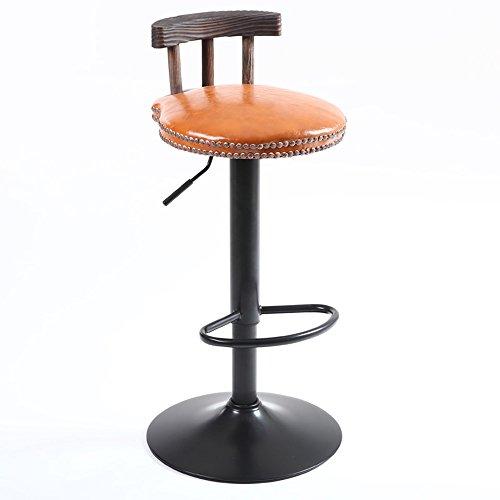 LightSeiEU/Chaises de bar rétro/chaises de bar en bois massif américain/tables basses et chaises basses/tabouret haut (Couleur : Marron)