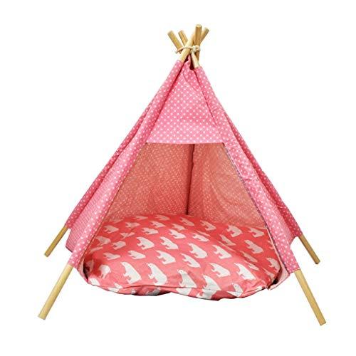 Ryan Tipi, kattennest, wasbaar, tent, bank, bed voor kleine en middelgrote honden, accessoires voor dieren, Roze