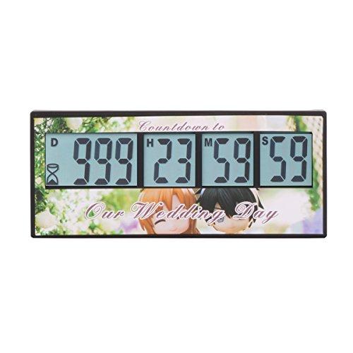 Aimilar Digitaler Countdown-Tage-Timer, 999 Tage Countdown-tTmer für Labor, Küche, Ruhestand, Hochzeit, als Kinder-Geschenk Hochzeit