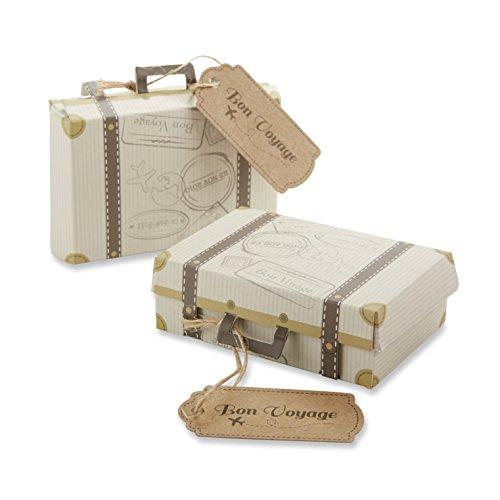 Kate Aspen Bon Voyage Vintage Koffer Geschenk-Box, Hochzeit/Party-Dekoration, 24 Stück