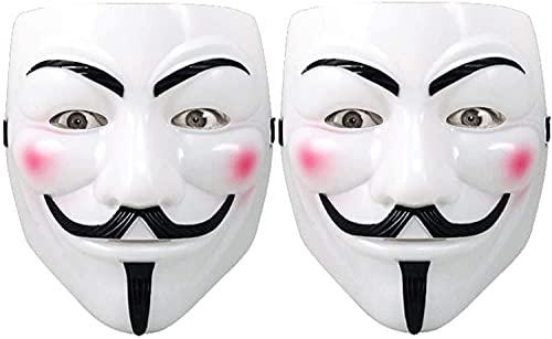 Halloween Masks,V for Vendetta Mask Halloween Costume anonymous guy mask Children s hacker mask, 2Pcs