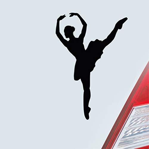Schöne Ballerina auf Zehenspitzen tanzen Auto Aufkleber für Auto Karosserie Fenster Tür Heckscheibe Laptop