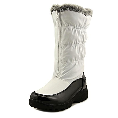 totes New Womens Rogan Rain/Snow Boots White Size 8.5 M Canvas Round Toe