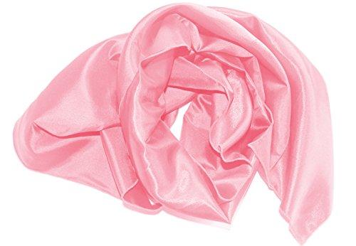 Am Laufsteg Satin-Stola (Eig) Schultertuch, zum Abendkleid oder Brautkleid, ca 140 x 46 cm, rosa
