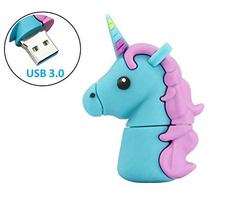Black and White Perfect Unicorn Gifts for Girls Cute Unicorn USB Keychain Flash Drive of Unicorn USB 32GB Flash Drive by P46 Digital Value Pack 2 PCS