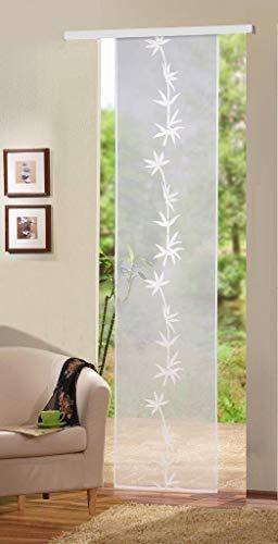 Home Fashion Puerta corredera, Tela, Blanco, 245 x 60 cm