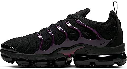 Nike Men's Air Vapormax Plus Running Shoes (13, Black/Reflect Silver/Noble Red)