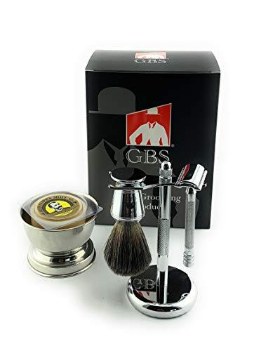 GBS Shaving Gift Set with Merkur Safety Razor, Bowl, Shaving...