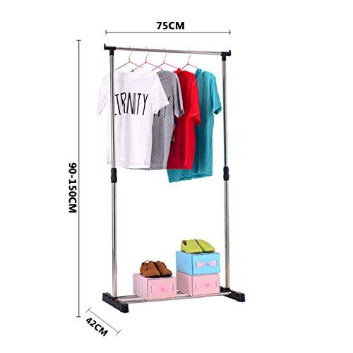 Tendederos, tendederos de balcón, tendederos para bebés, estantes multiusos ( Tamaño : 75cm )