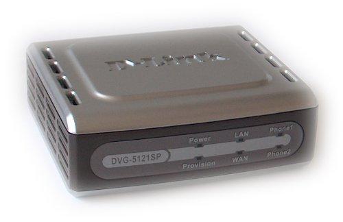 D-Link DVG-5121SP - Adaptador de 2 puertos VoIP ATA