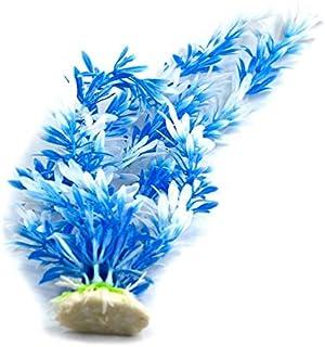 اعشاب صناعية من اعشاب بيضاء ملونة لأحواض السمك