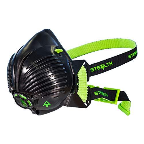 Stealth Mask P3 Atemschutzmaske mit austauschbarem HEPAC-Filter für ultimative Sicherheit, Atemschutz mit 99,99{476160edd2bf4b2660365b441927ca83e19292838a6b15bb39fc3b73f03016fa} Partikelfiltrierung Baugewerbe P3 Maske Halbmaske, Staubmasken Atemschutz Feinstaub-M/L