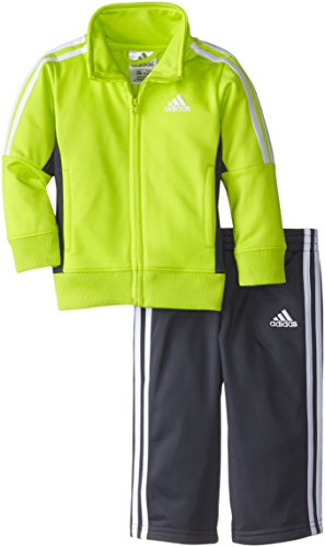 adidas Baby Boys' Tricot Jacket and Pant Set, Semi Solar Yellow, 12 Months