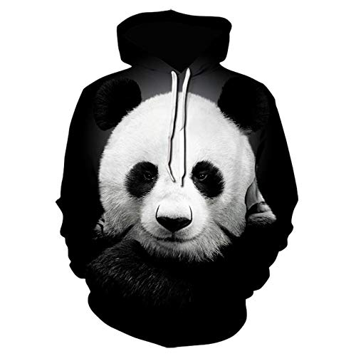 Mr.BaoLong&Miss.GO Autumn and Winter Men Sweater Hooded Long-Sleeved Sweater Digital Printing Panda Hooded Pullover Sweater Hoodie Men Plus Size Sweater