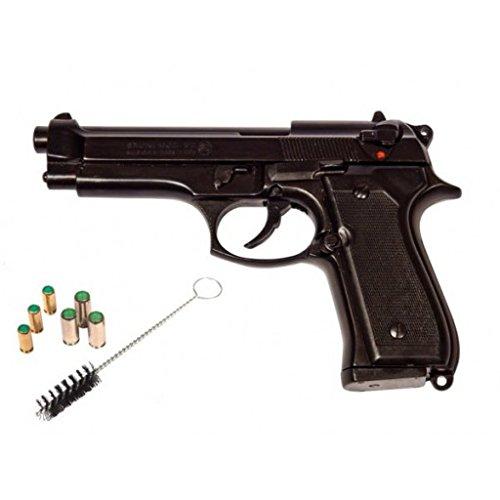 ottima riproduzione della famosa pistola Beretta modello 92/98, questa è in calibro 9mm pak a salve,molto più potente del classico calibro 8mm a salve