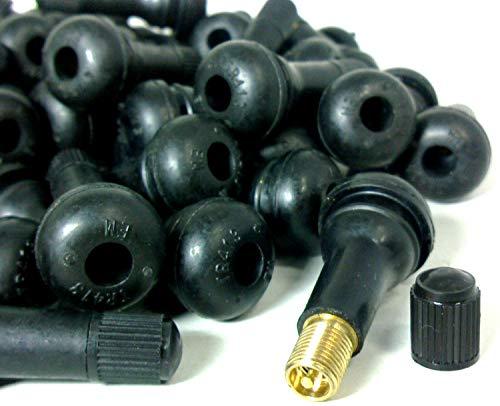 タイヤ ゴム エア バルブ シム コア 入り 銅製 亜鉛合金製 4個~100個 セット (銅4個)