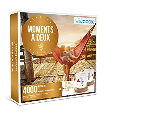 Vivabox- Coffret cadeau couple - MOMENTS À DEUX - 4000 activités: diners, soins. + 1 duo de tasses