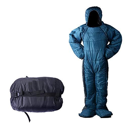 Saco de dormir para adultos, saco de dormir de madera humana con leche Ike, para interiores y exteriores, equipo de camping, viajes y actividades al aire libre, M